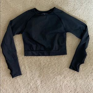 Cropped long sleeve workout top
